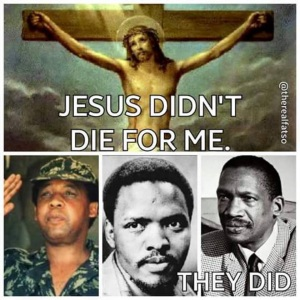 White Jesus v.s. Black South African Liberation Struggle Heroes